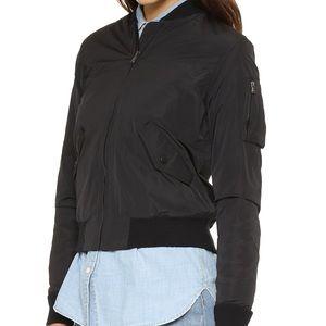 James Perse black bomber jacket windbreaker